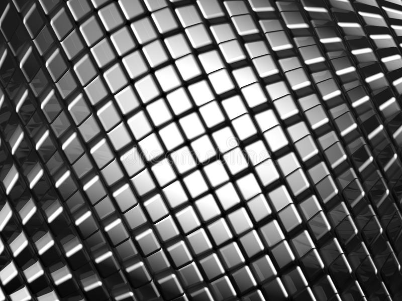 Fundo dinâmico de alumínio abstrato do cubo ilustração stock