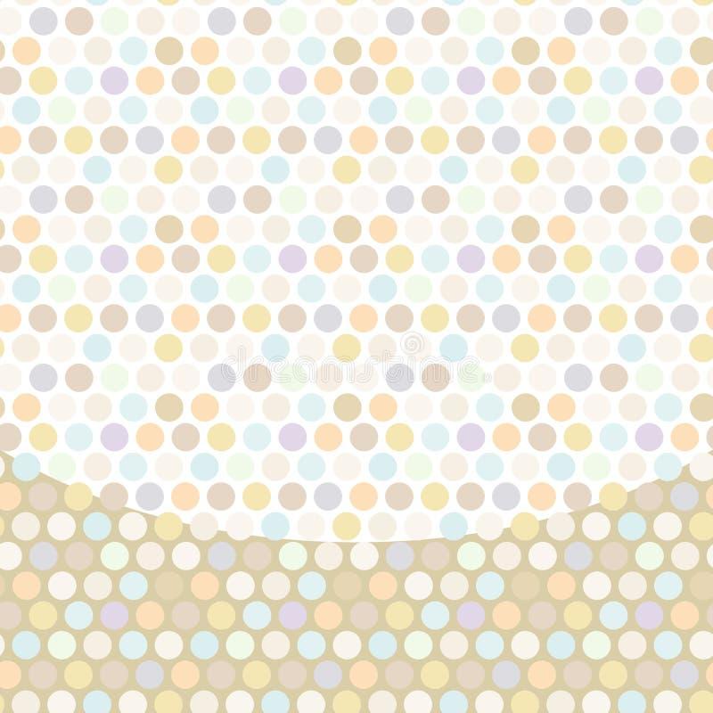 Fundo do às bolinhas, teste padrão, ponto pastel no branco ilustração royalty free