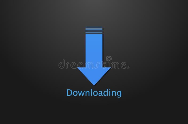 Fundo do ícone do fazendo download ilustração stock