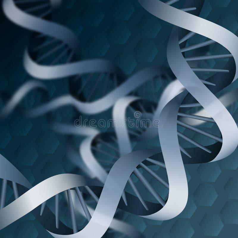 Fundo do ADN da hélice dobro ilustração do vetor