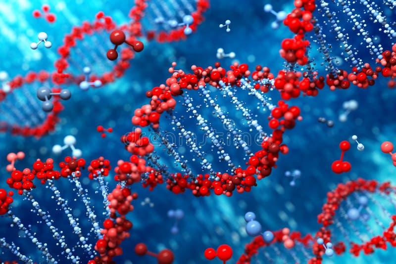 Fundo do ADN (tipo 05) ilustração stock