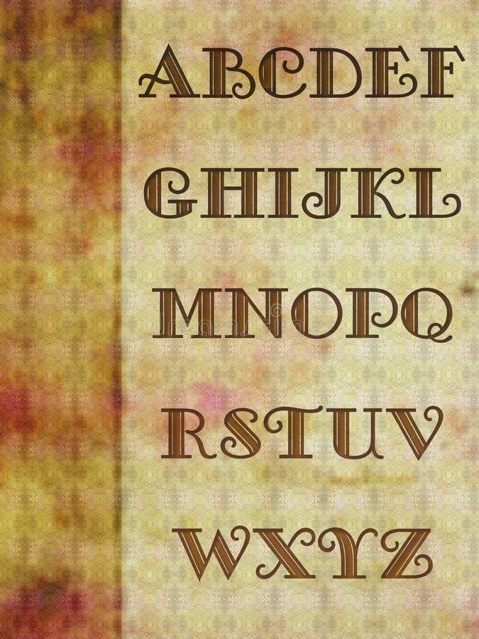 Fundo do alfabeto fotografia de stock