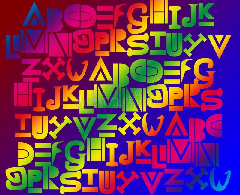 Fundo do alfabeto ilustração stock