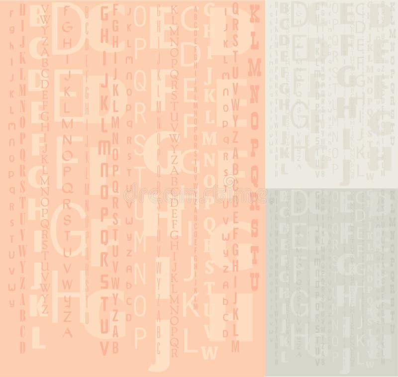 Fundo do alfabeto do vetor ilustração do vetor