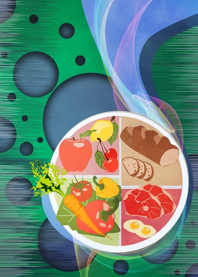 Fundo do alimento ilustração stock