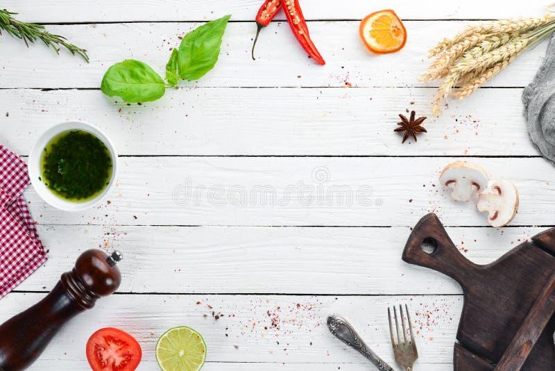 Fundo do alimento Cozinhando o conceito imagens de stock