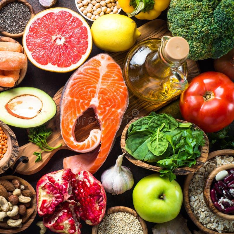 Fundo do alimento da dieta equilibrada imagem de stock royalty free
