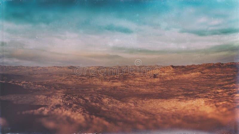 Fundo do ambiente do deserto ilustração royalty free