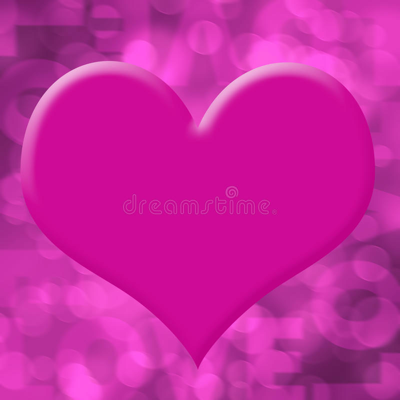 Fundo do amor ilustração stock