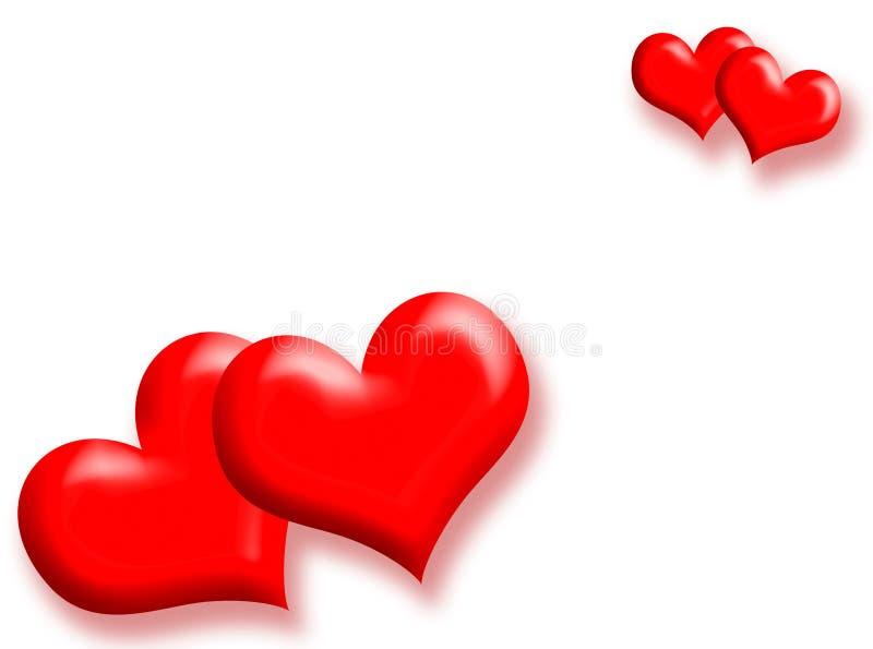 Fundo do amor ilustração royalty free