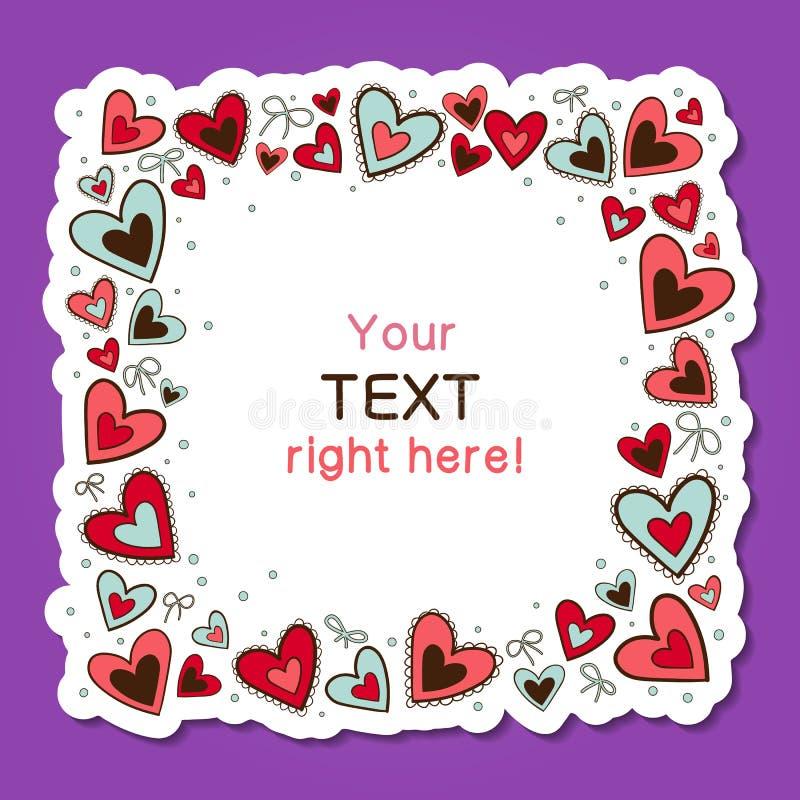 Fundo do amor dos corações - vetor ilustração royalty free