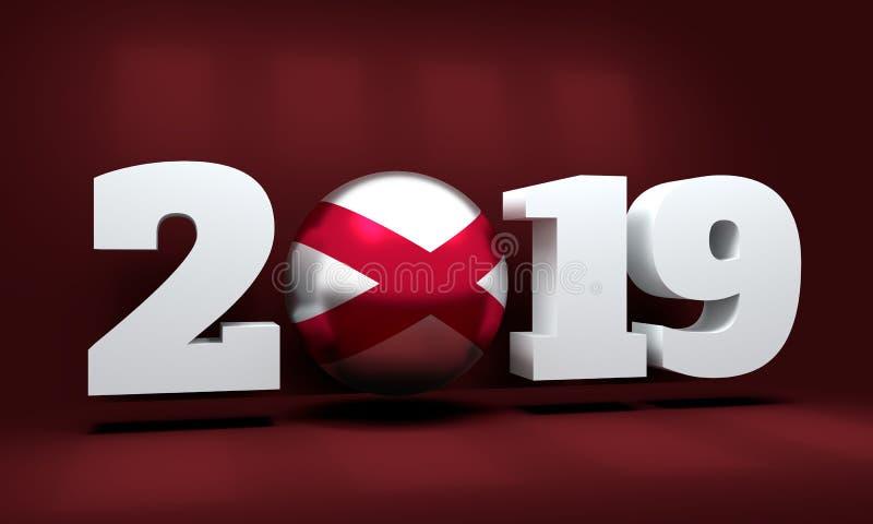 Fundo do ano 2019 novo ilustração royalty free