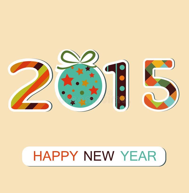 Fundo 2015 do ano novo ilustração royalty free