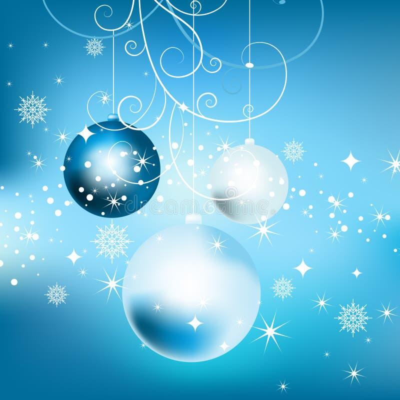 Fundo do ano novo com esferas. ilustração royalty free
