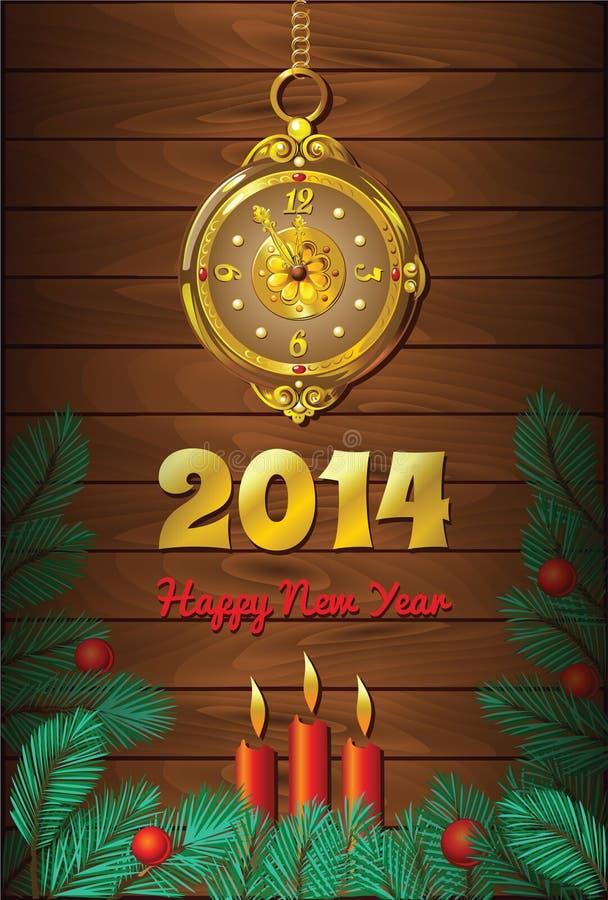 Fundo do ano novo com pulso de disparo e velas ilustração do vetor