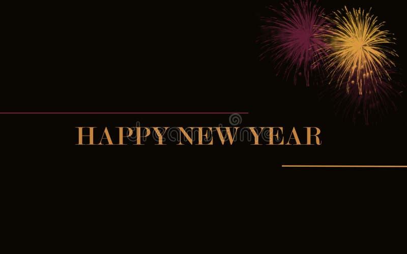 Fundo 2019 do ano novo feliz ilustração stock