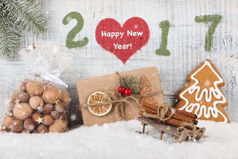 Fundo 2017 do ano novo feliz imagens de stock