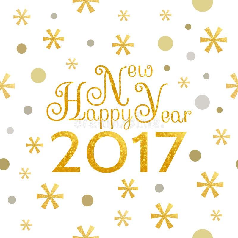 Fundo do ano 2017 novo feliz ilustração royalty free
