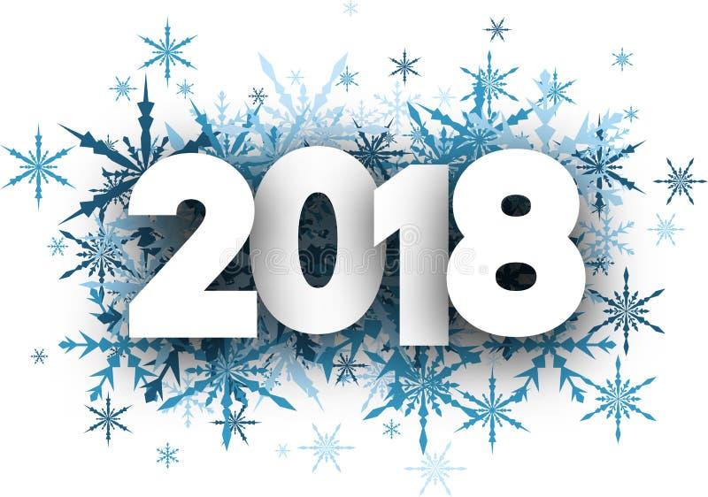 Fundo do ano novo do inverno 2018 ilustração royalty free