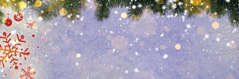 Download Fundo do ano novo na neve imagem de stock. Imagem de cartão - 80101933
