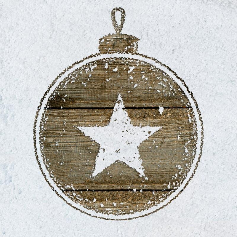 Download Fundo do ano novo na neve foto de stock. Imagem de símbolo - 80102164