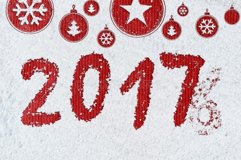Download Fundo do ano novo na neve imagem de stock. Imagem de cartão - 80102381