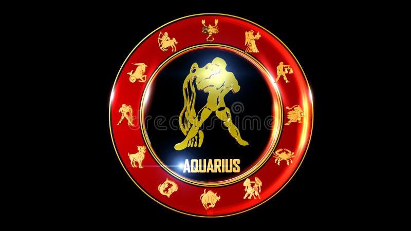 Fundo do aquarius do zodíaco ilustração do vetor