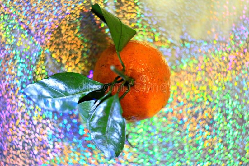 Fundo do arco-íris do citrino do Natal foto de stock