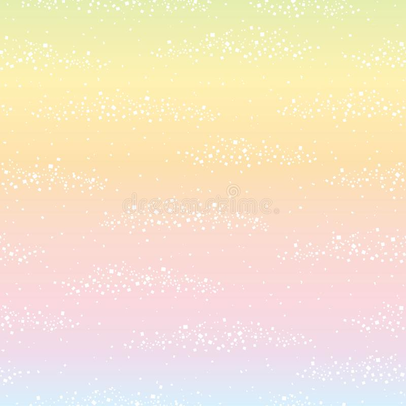 Fundo do arco-íris com folha branca ilustração stock
