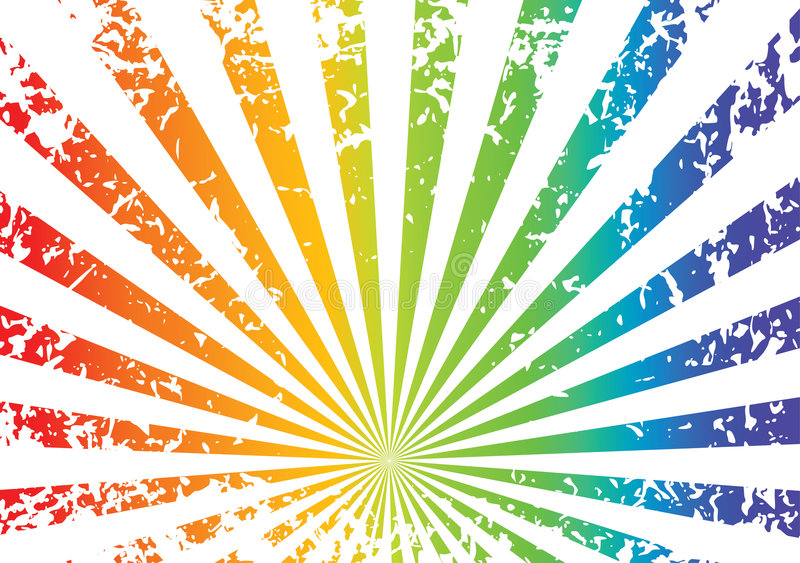 Fundo do arco-íris de Grunge ilustração do vetor