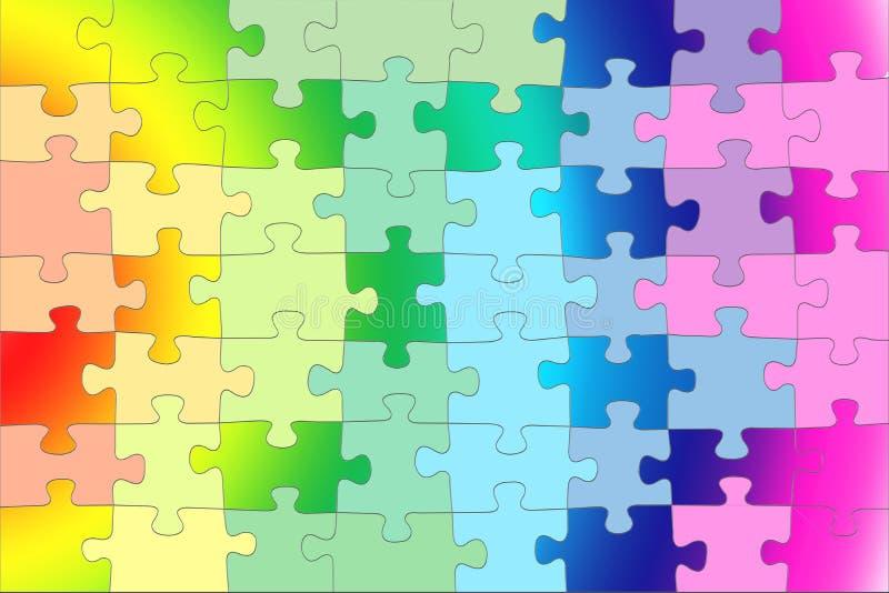 Fundo do arco-íris do inclinação, cores de contraste, efeito do enigma ilustração royalty free