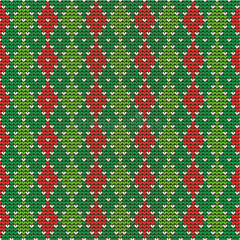 Fundo do argyle do Natal, incl sem emenda do teste padrão ilustração royalty free