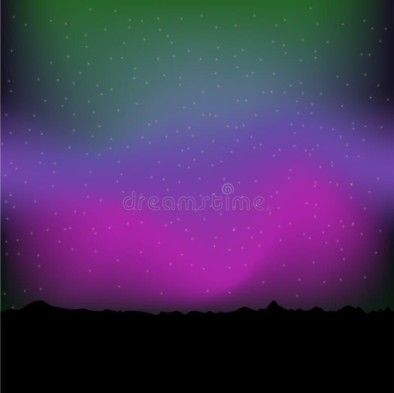 Fundo do aurora borealis - ilustração do vetor ilustração royalty free