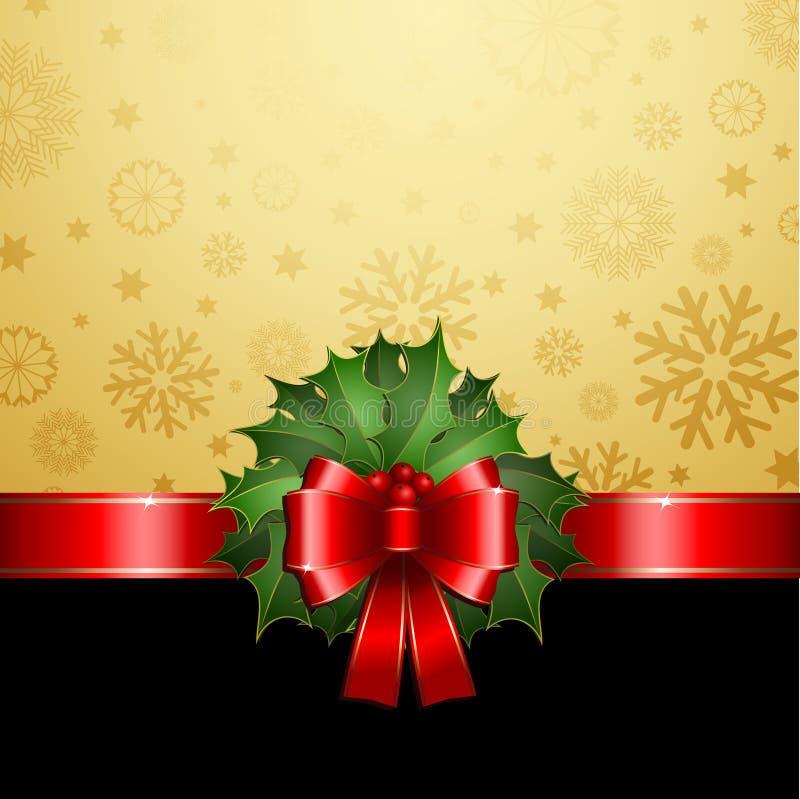 Fundo do azevinho do Natal ilustração royalty free