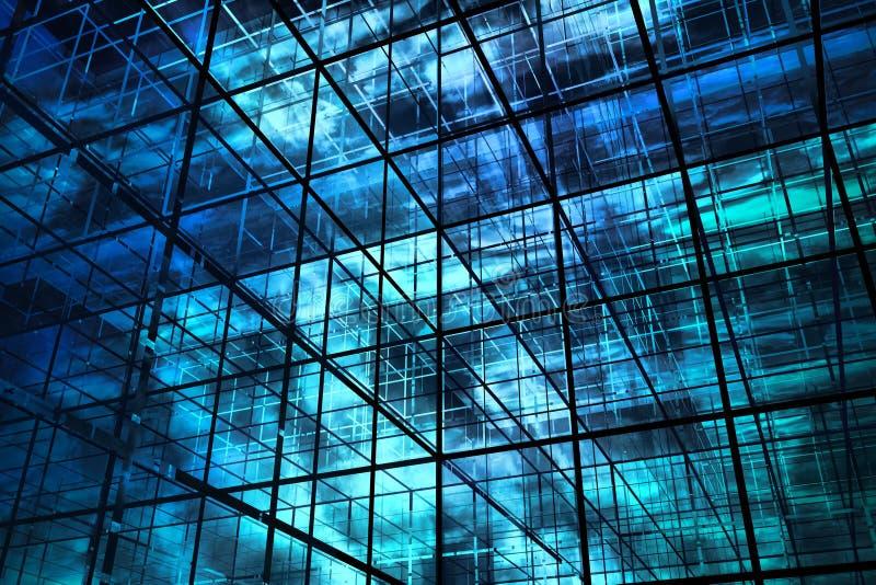 fundo do azul 3D ilustração do vetor