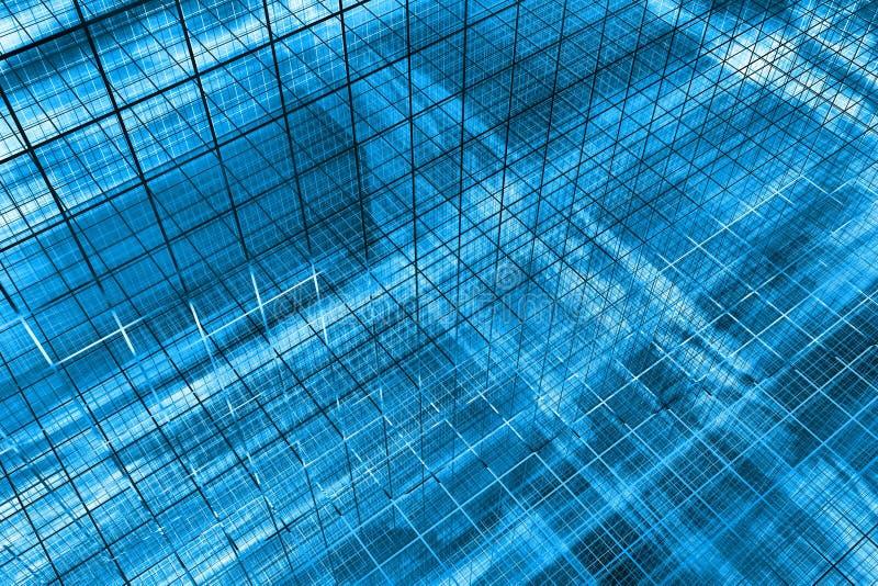 fundo do azul 3D ilustração stock