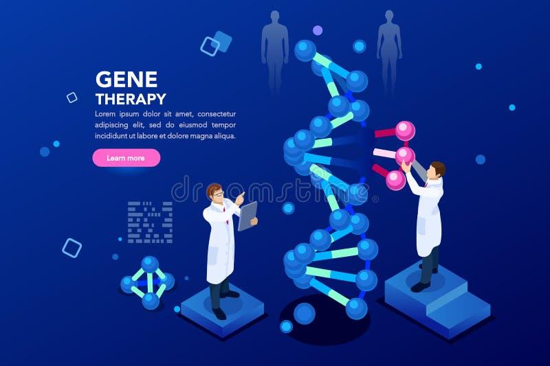 Fundo do azul da hélice da molécula do ADN ilustração royalty free