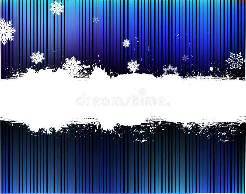 Fundo do azul da neve ilustração do vetor
