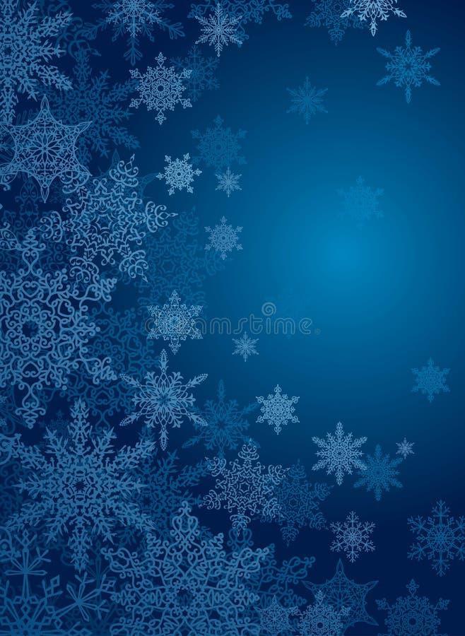 Fundo do azul do floco de neve ilustração stock