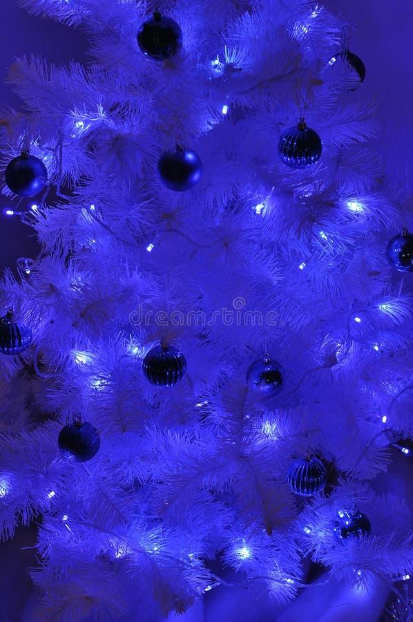 Fundo do azul do Natal fotografia de stock royalty free