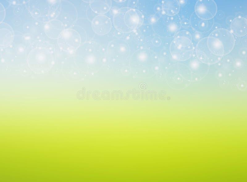 fundo do azul do verde da mola do bokeh imagem de stock