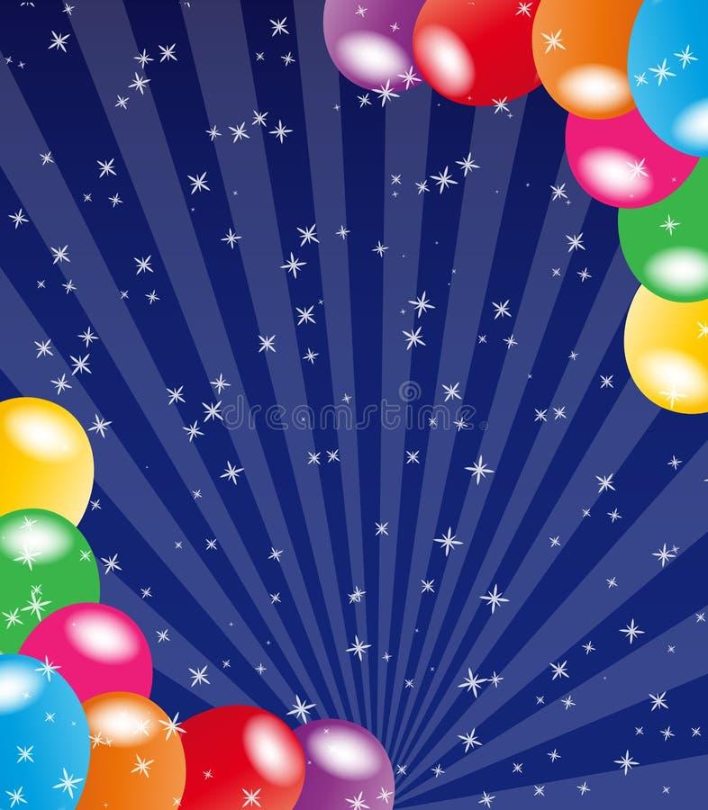 Fundo do balão ilustração stock