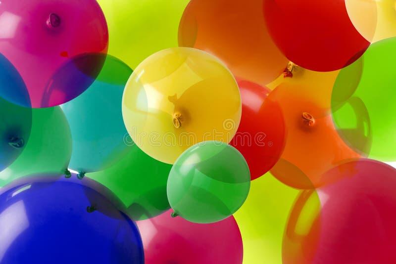 Fundo do balão com muitas cores imagens de stock