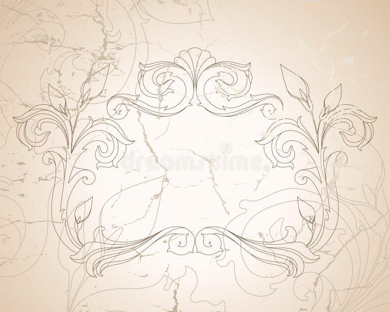 Fundo do baroque do vintage ilustração royalty free