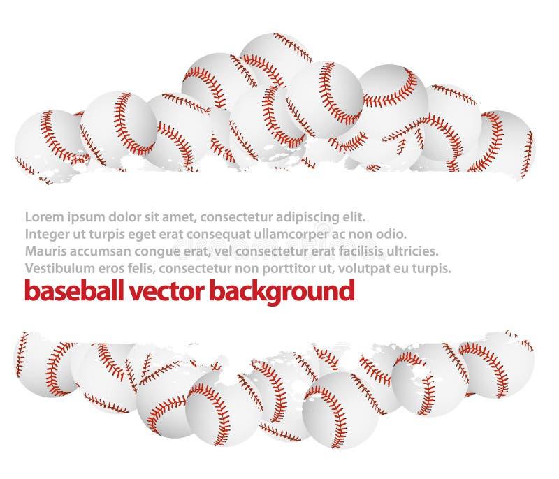 Fundo do basebol ilustração do vetor