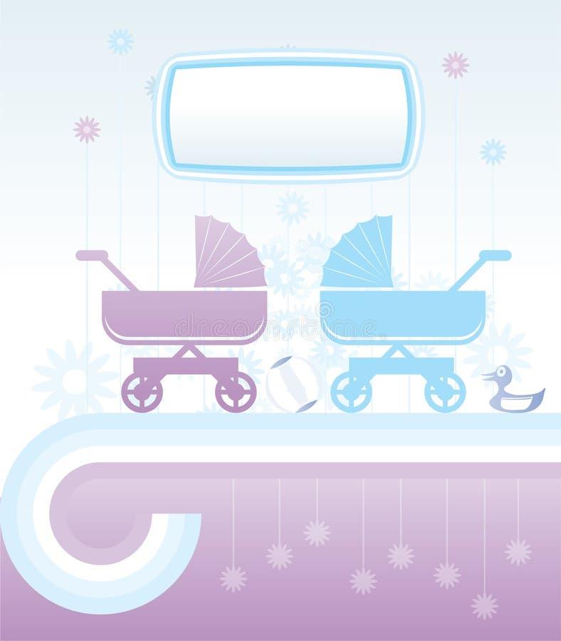Fundo do bebê e das crianças ilustração royalty free