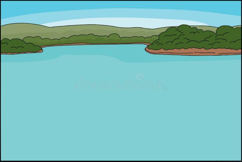 Fundo do beira-rio ilustração royalty free