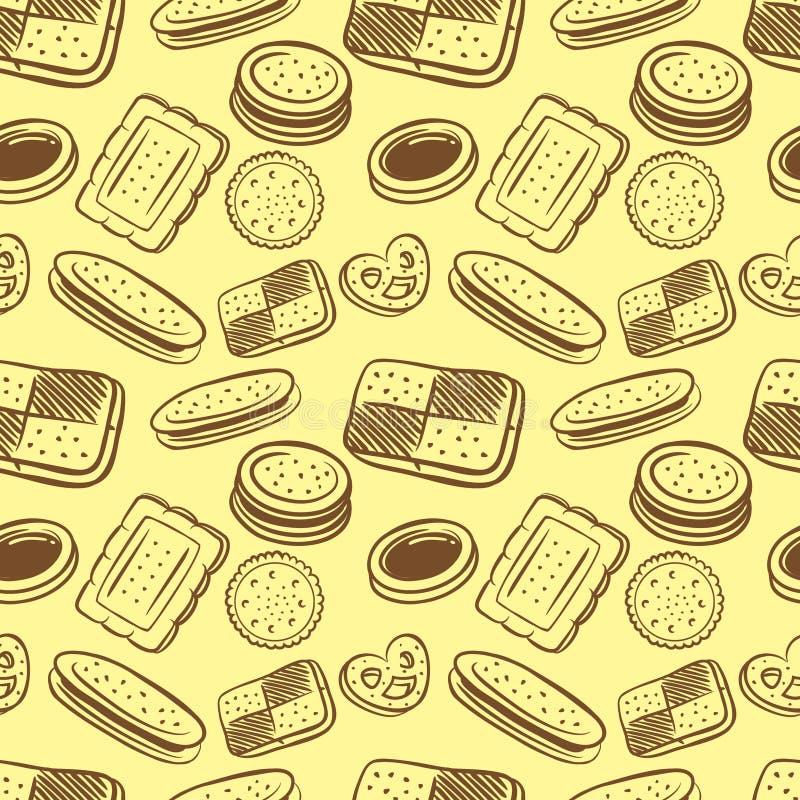 Download Fundo do biscoito ilustração stock. Ilustração de decorativo - 29838276