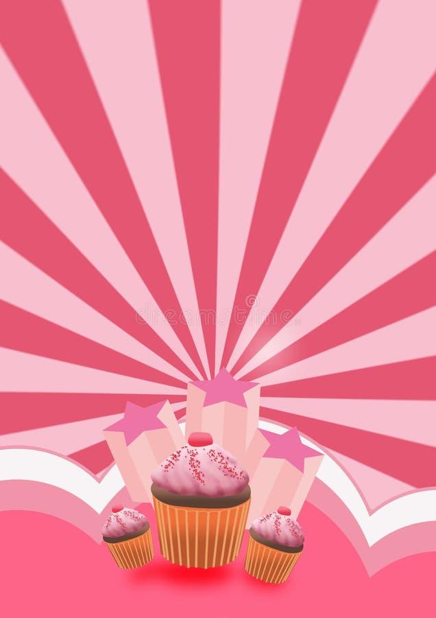 Fundo do bolo do partido ilustração do vetor