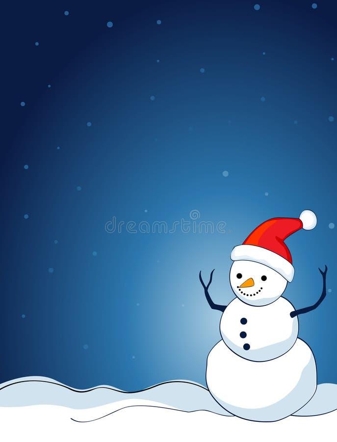 Fundo do boneco de neve ilustração do vetor